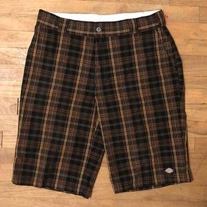 Dickies men's plaid board shorts